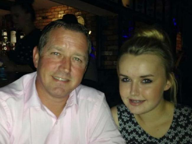 Charlotte and her father Martin before the teen's death. Picture: Caters