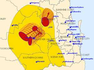 WARNING: Severe thunderstorms affecting SEQ