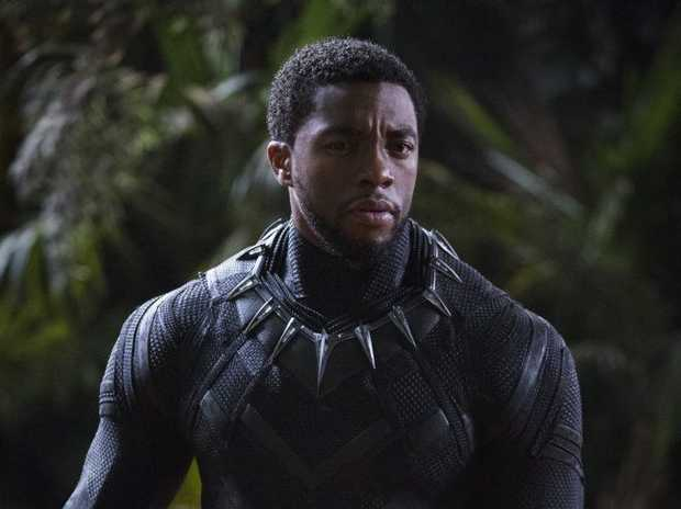 Chadwick Boseman in a scene from the movie Black Panther.