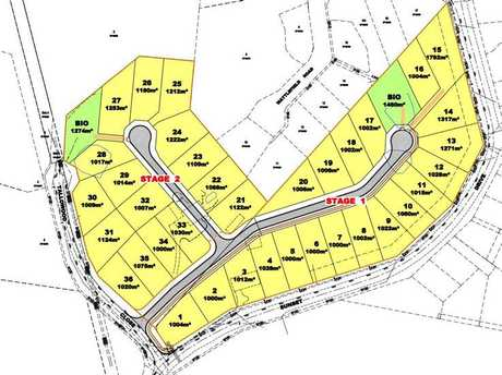 PROPOSED: The subdivision of large-scale lots at Little Mountain.
