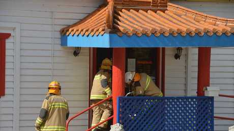 Firefighters investigate reports of a fire at West Lake Chinese restaurant.