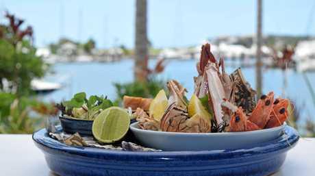 The Fishbar's seafood plate.