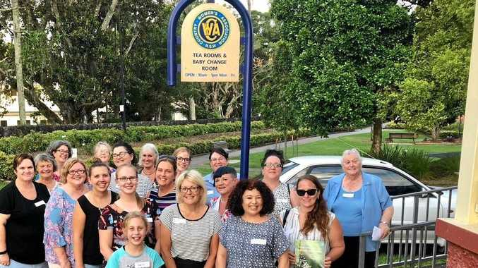 New evening branch of Lismore's CWA outside the tea rooms at Spinks Park.