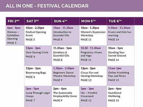Lismore Women's Festival 2018 Program.