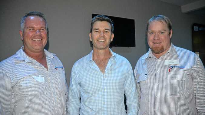 LEADING THE WAY: Rob Fraser, Damian Morgan and Kevin Jackson at the seminar in Chinchilla on Tuesday afternoon.