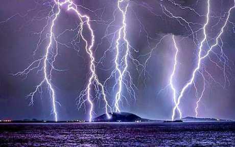 'Stormy Nights' was taken by Phil Staatz of Mt Coolum under fire last September.
