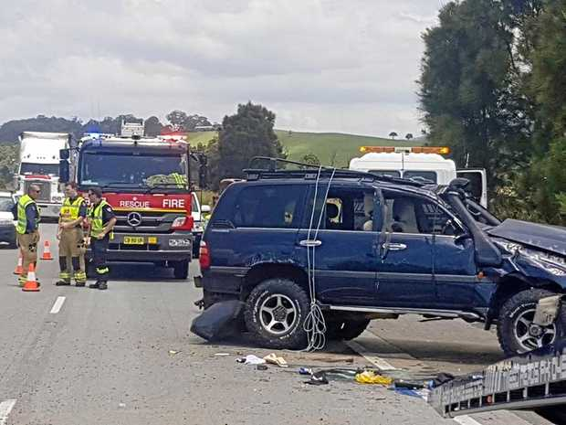 Emergency services attended a crash on the Pacific Hwy near Cudgera Creek on Tuesday afternoon.
