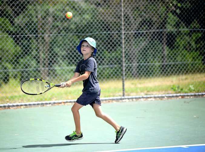 Summer Tennis in Gympie Rafferty Kansfki.