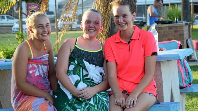 BEST SPOT: Jo Kassulke, Caitlin Wagner and Emma Whelan love going for a swim at the Mundubbera Swimming Pool.