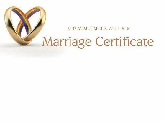 Same-sex commemorative marriage certificate designs