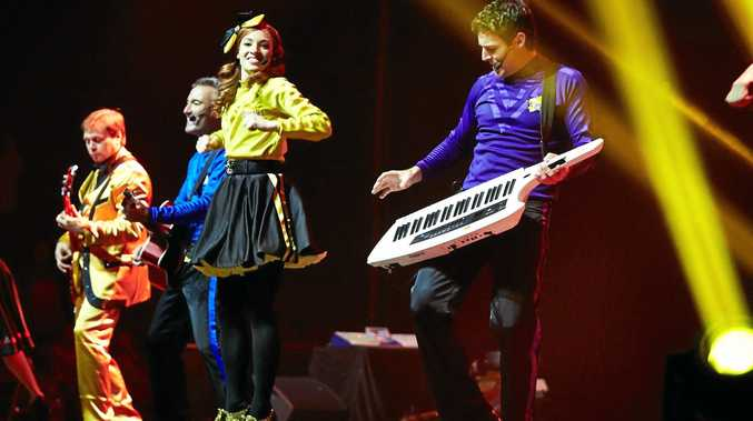 READY TO WIGGLE: The Wiggles are ready to pout on a show in Kingaroy.