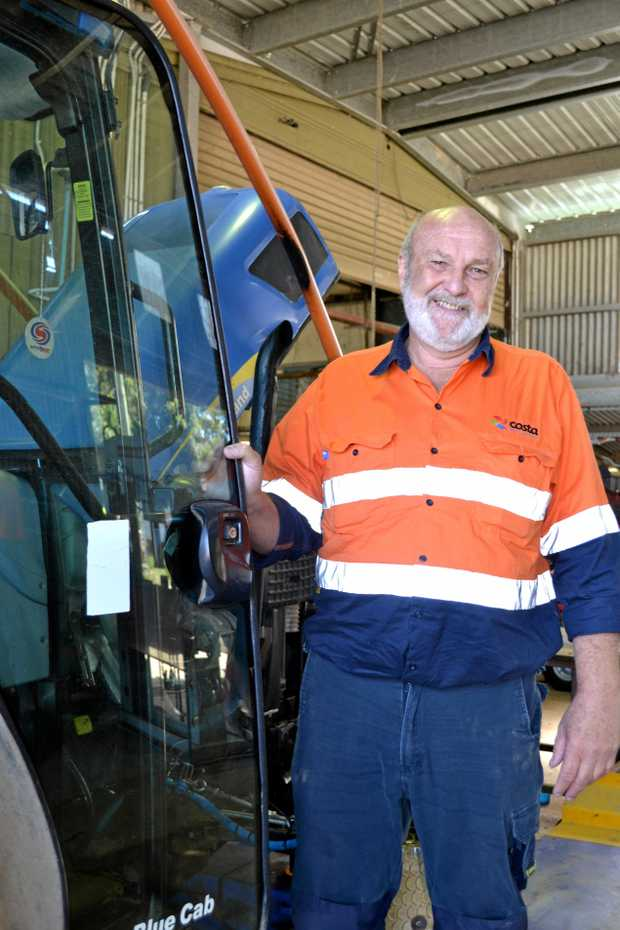RIGHT FIT: Former Sydney fitter John Chapman is the workshop manager at Costa Berry Farm .