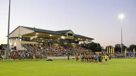 Almost 7000 rugby league fans turn out to see the New Zealand Warriors take on Gold Coast Titans in a NRL pre-season trial at Clive Berghofer Stadium, Saturday, February 7, 2015.