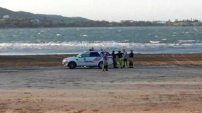 An Emu Park mum drowned on Tuesday evening. Her son was pulled from the water as well and taken to hospital as a precaution.