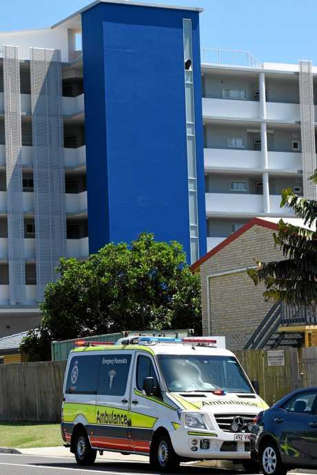 Emergency services investigate a sudden death at a Hervey Bay accommodation provider.