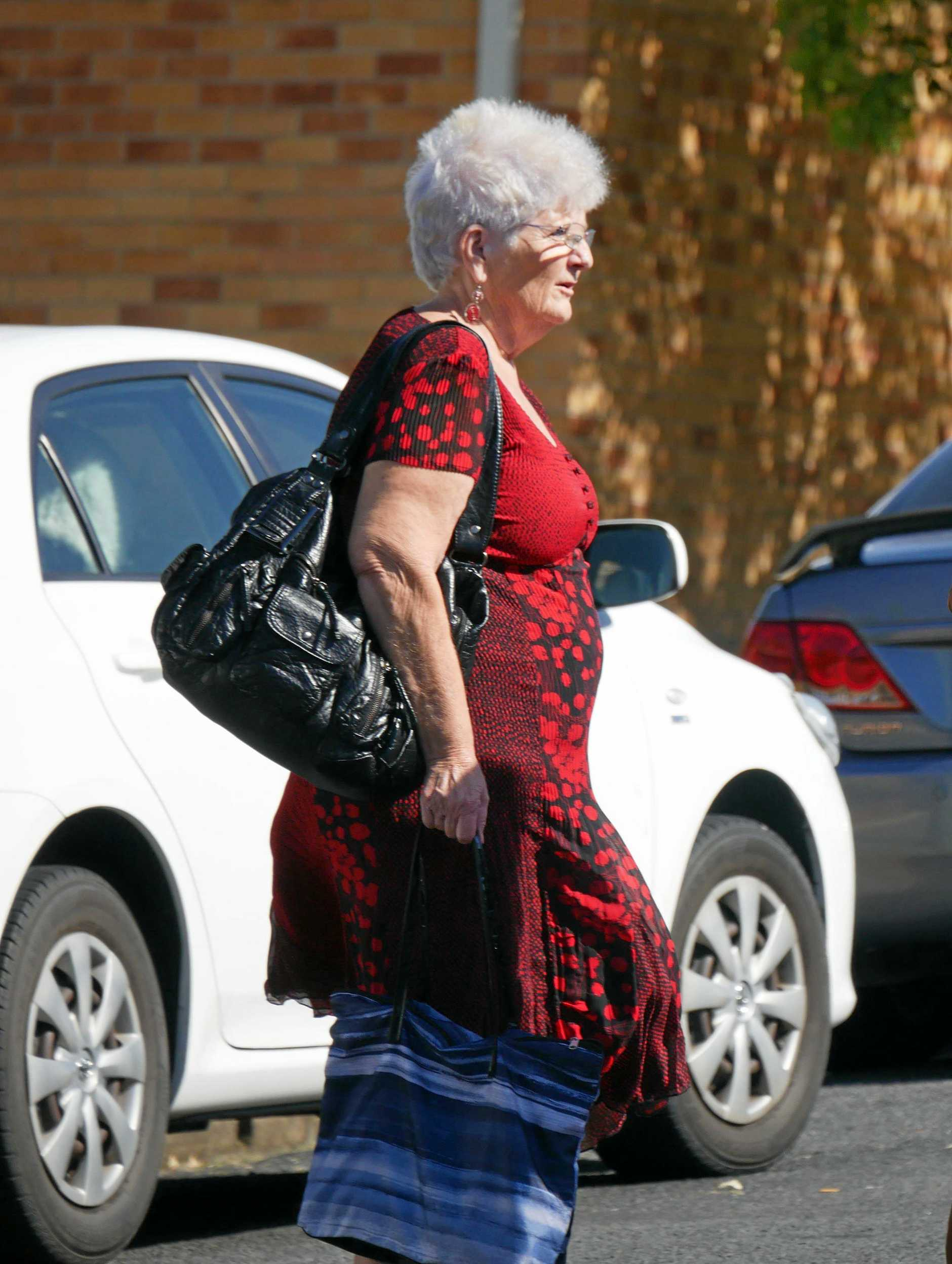 Erioll Ann Whitney, 66, of Scarness, leaves Hervey Bay District Court.