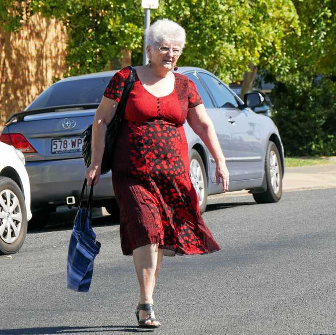 Errioll Ann Witney, 66, of Scarness, leaves Hervey Bay District Court.