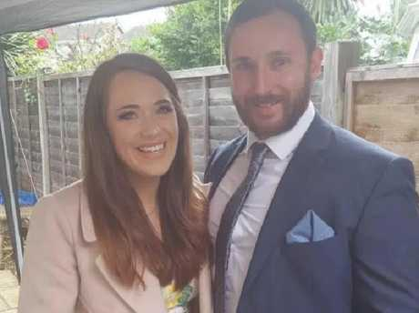Newlyweds Ellie Milward and her husband Jonathan Udall were flown to hospital after surviving the crash. Picture: Facebook