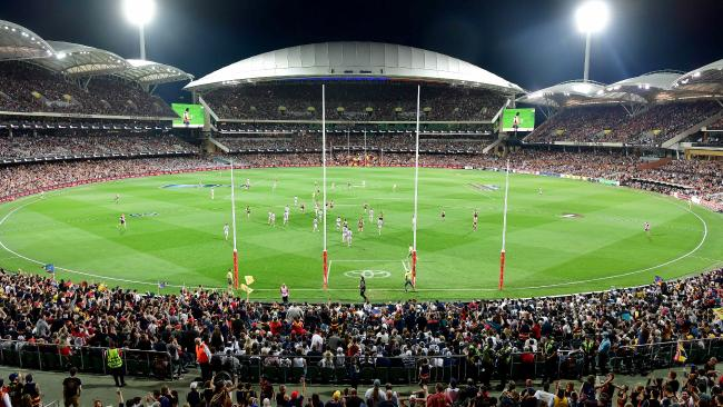 The Adelaide Oval is a great stadium ... for AFL and cricket. Picture: Bianca De Marchi