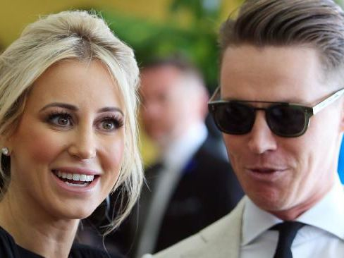 Roxy Jacenko and husband Oliver Curtis opened up on radio about photos of her kissing another man while he was in jail. Picture: Aaron Francis/The Australian