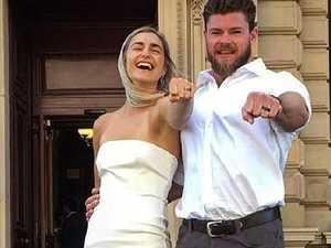 Frances Abbott's surprise wedding