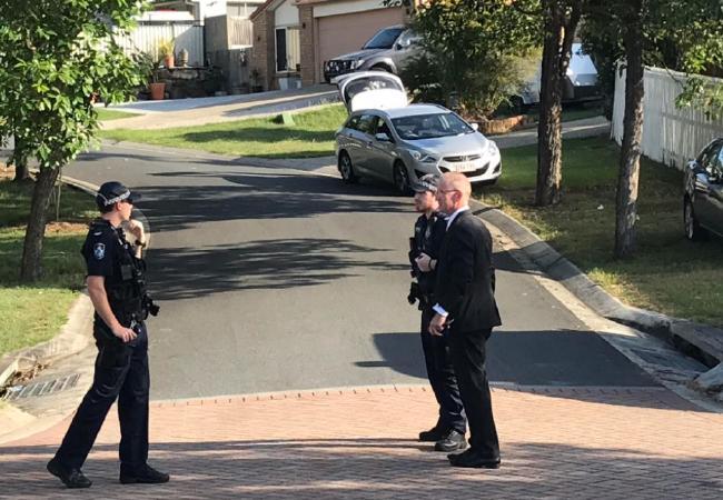 Police Union president Ian Leavers on scene of shooting
