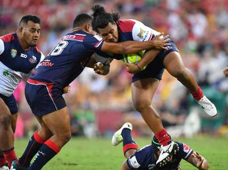 Brandon Paenga-Amosa (right) is in line to make his Super Rugby debut. Picture: AAP Image/Darren England