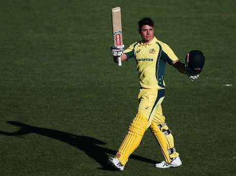 Marcus Stoinis made his mark on Eden Park.