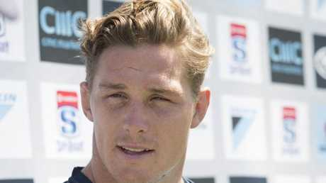 Waratahs captain Michael Hooper at Brookvale Oval on Wednesday.