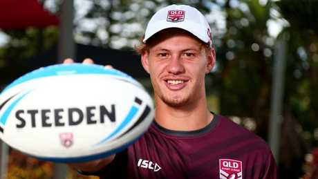 Kalyn Ponga at Queensland's Emerging Origin camp.