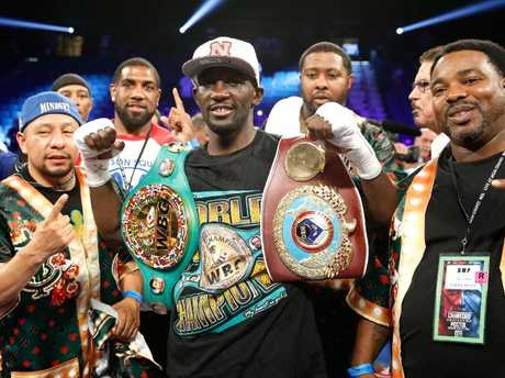 WBO junior welterweight champion Terence Crawford (centre). Picture: Getty Images