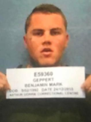 Last year Geppert ran an old mugshot.