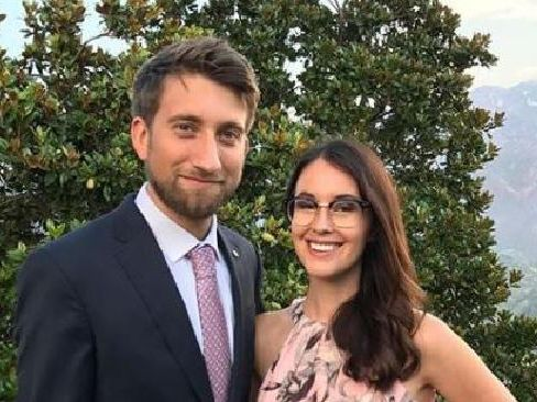 "YouTube stars Gavin Free and Megan Turney hid in a closet away from a ""disturbed"" fan who broke into their home. Picture: Instagram"