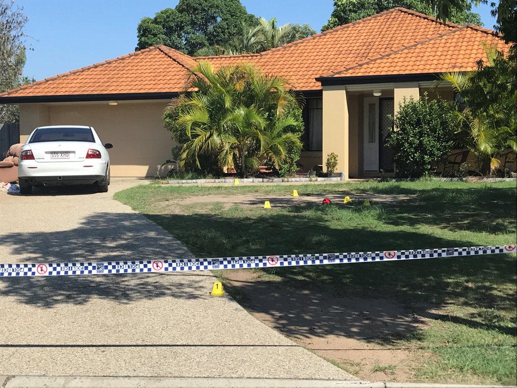 A crime scene remains established at a Danube Street home.
