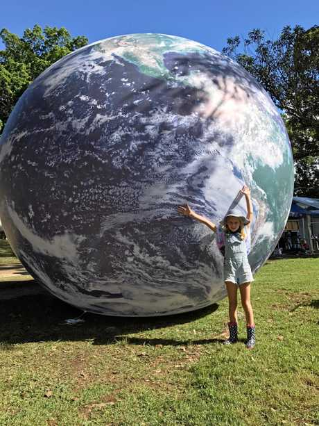 Bellingen Greens are bringing a giant Earth Ball to the local markets.