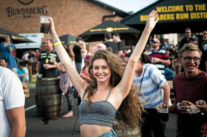 BIG SPIRIT: Festival-goers enjoying the day at the Spirit of Bundaberg Festival at the Bundaberg Rum Distillery.