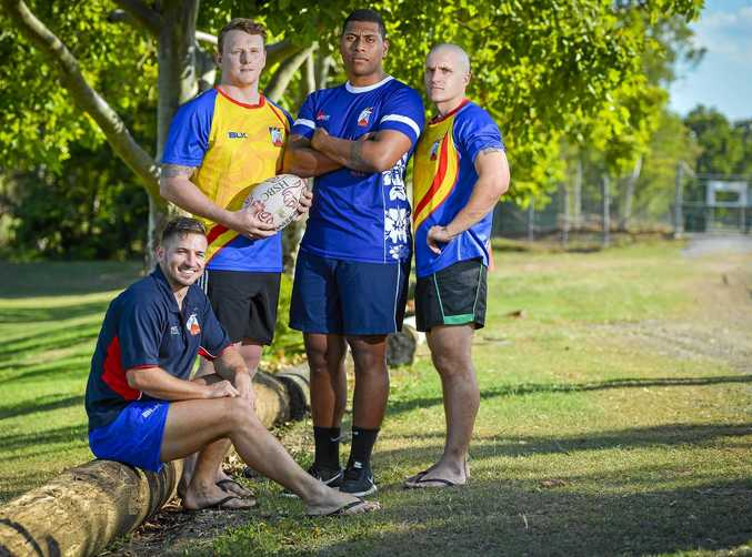 LEADERS: Adam Conway, Eamon Chapman, Paul Tema and Adam Edmistone look forward to the season with the Gladstone Goats Rugby Union Football Club.