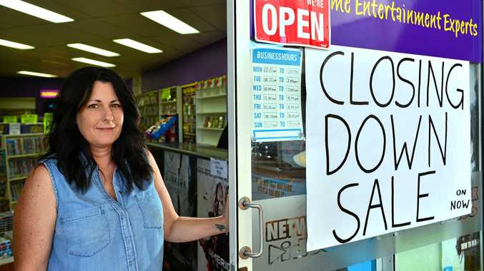BITES THE DUST: Sharon Stamper of Network Video in Buderim said despite good membership they were shutting due to high rent.