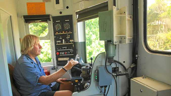 WORLD NEWS: Byron Bay Railroad Company's rail safety manager, Geoff Clark is thrilled with the international media coverage the world's first totally solar-powered train.
