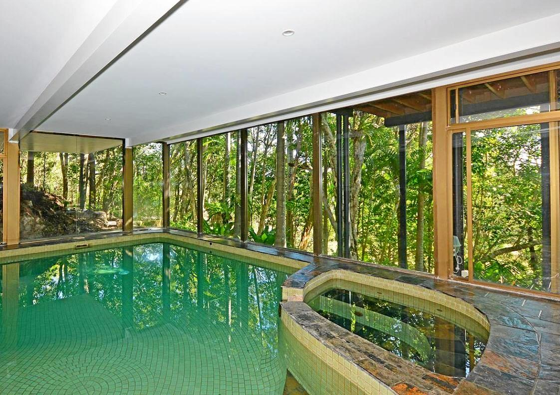 A stunning indoor pool at the Dundowran Beach home in a hidden sanctuary. It is on the market for $1.1 million to $1.25 million.