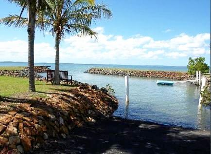 The property on Pelican Ave, featuring a a private deep water marina, was snapped up by a Sydney buyer in October 2015 for a $2.135 million.