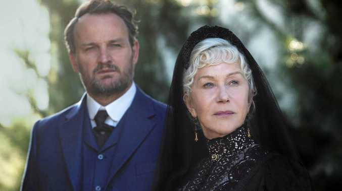 Jason Clarke and Helen Mirren in a scene from the movie Winchester. Supplied by Studiocanal.