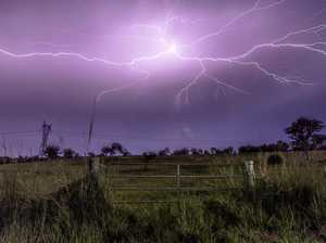 Coast man and dog dodge 'spider web' lightning strike