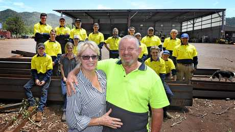Di and Pete Saal with their Widgee Engineering family.