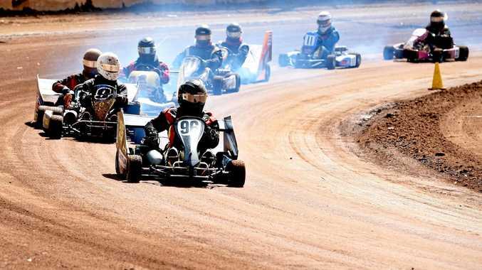 LAST ROUND: Maryborough Speedway will host the final round of the Tri Track Speedway Karts Series next week.