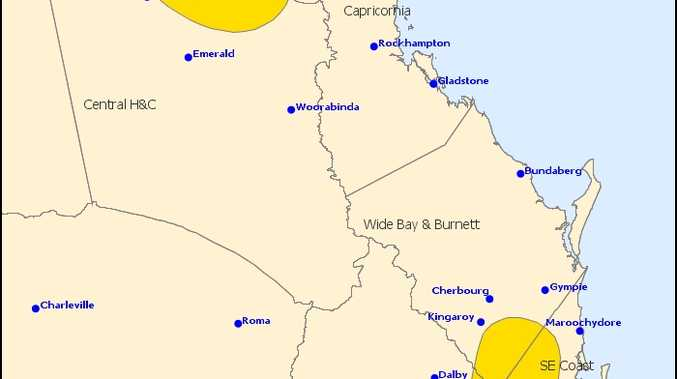 A storm warning has been issued for the Darling Downs.