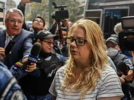 Sainsbury, pictured during an earlier court hearing in Bogota, Colombia Picture: Ivan Valencia