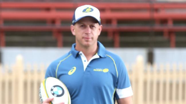 Waratahs forwards coach Simon Cron.
