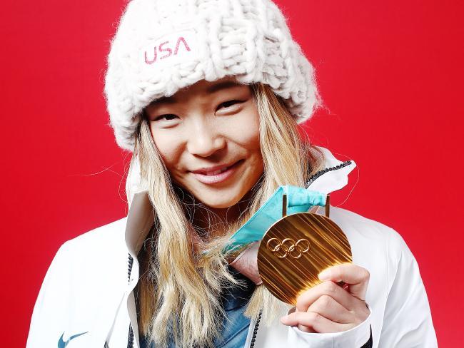 Gold medallist in Snowboard Ladies' Halfpipe Chloe Kim.