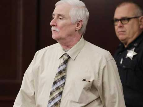 Defendant Donald Smith enters the courtroom for the start of the second day of his trial for the rape and murder of Cherish, in Jacksonville, Florida. Picture: Bob Self/The Florida Times-Union
